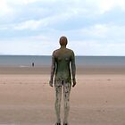 The Iron Man on Crosby Beach Liverpool by Tony Parry