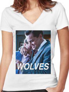 Wolves  Women's Fitted V-Neck T-Shirt