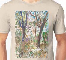 Two Black Trees Unisex T-Shirt