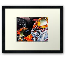 Orange Chopper Top Framed Print