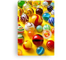 Lots of colorful marbles Canvas Print