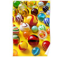 Lots of colorful marbles Poster