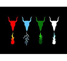 Know Your Dragon - Fire, Electric, Gas, Ice Photographic Print