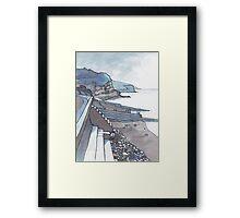 Sea Wall at Amroth Framed Print