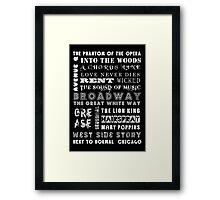 BROADWAY POSTER Framed Print