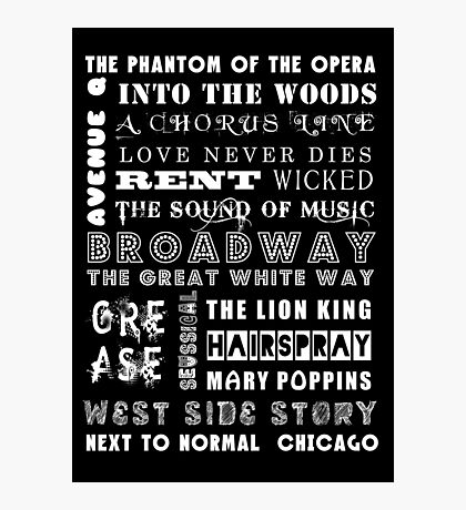 BROADWAY POSTER Photographic Print