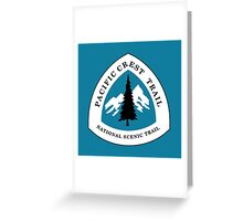 Pacific Crest National Scenic Trail Sign, USA Greeting Card