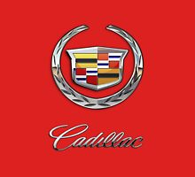 Cadillac - 3D Badge on Red T-Shirt