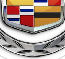 Cadillac - 3D Badge on Red Sticker