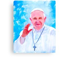 Pope Francis Lighting The Way Canvas Print