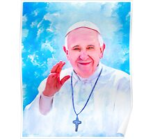 Pope Francis Lighting The Way Poster