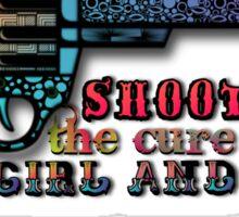 A Girl and a Gun Sticker
