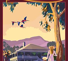 Art Deco Queensland with Queenslander House by contourcreative