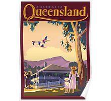 Art Deco Queensland with Queenslander House Poster