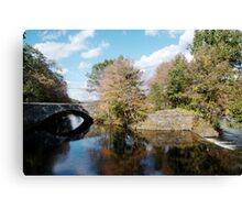 Stone Bridge in Autumn Canvas Print