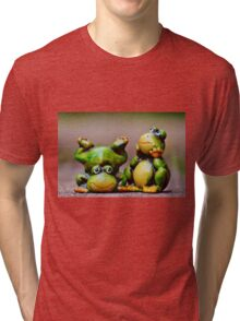 Two frogs Tri-blend T-Shirt