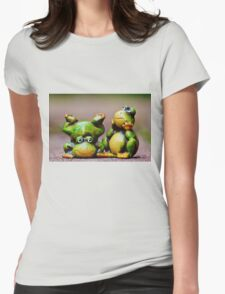 Two frogs Womens Fitted T-Shirt