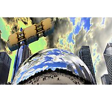The Bean being bombed Photographic Print