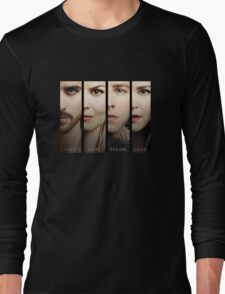 Once Upon a Time, Faces, version 1, OUAT, hook, emma swan, prince charming, snow white Long Sleeve T-Shirt
