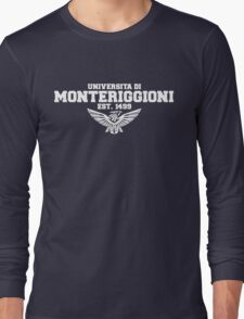 Universita di Monteriggioni (White) Long Sleeve T-Shirt