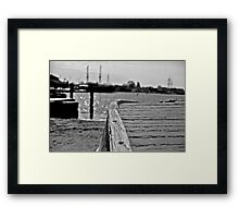 A Wooden Skiff in Mystic Framed Print