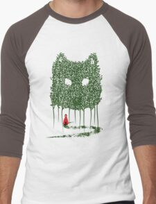 Red & The Wolf Men's Baseball ¾ T-Shirt