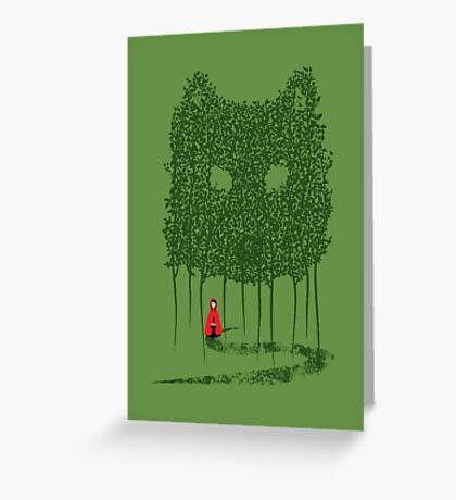 Red & The Wolf Greeting Card