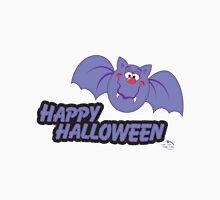 Purple Bat Happy Halloween Unisex T-Shirt