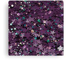 Purple & Multi Colored Sparkly Stars Canvas Print