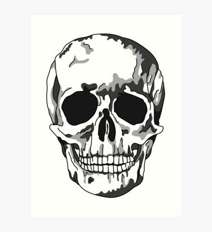 Modern Memento Mori, Shadow Skull Art Print