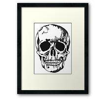 Modern Memento Mori, Shadow Skull Framed Print