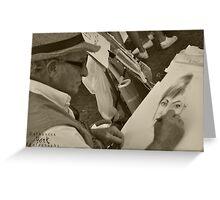 SEPIA - Italian Artist @ Piazza Navona Greeting Card