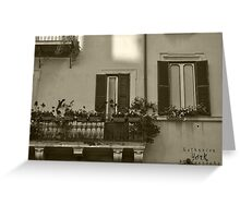sepia - Left Behind Greeting Card