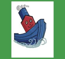 Toddlers Little Toy Tug Boat Tshirt Kids Clothes