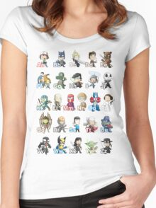 ABC of Geek Culture Women's Fitted Scoop T-Shirt