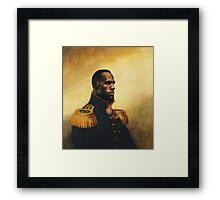 Kings of Basketball - LBJ Framed Print
