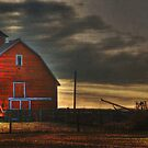 Red Barn at Dawn by Lisa Knechtel