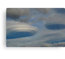 Cloud Spaceship Shapes Canvas Print