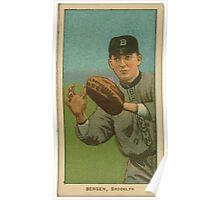 Benjamin K Edwards Collection Bill Bergen Brooklyn Dodgers baseball card portrait 002 Poster