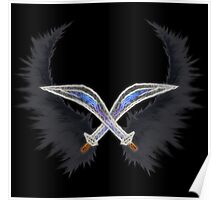 Dark Pit ~ Wings & Silver Bow Poster