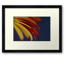 Yellow with Red Framed Print