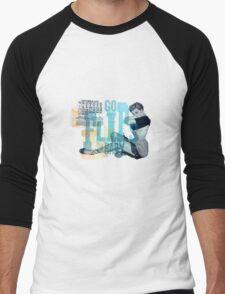 GoFlipsBaby Men's Baseball ¾ T-Shirt