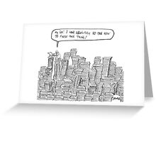 writers quandary  Greeting Card
