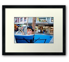 Street Performance by Ben McCullum - Picture taken by Chloe Lee Framed Print