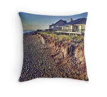 Sunrise and Beach Houses Throw Pillow
