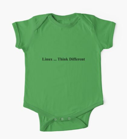 Linux ... Think Different One Piece - Short Sleeve