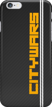 Citywars.ca Iphone Case (Carbon Background) by Kndbro
