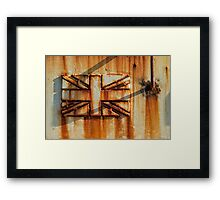Rusted Union Jack Framed Print