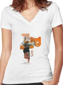TheBazoomGirl Women's Fitted V-Neck T-Shirt