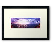 Storm Inbound - Pattaya Sunset Panorama Framed Print